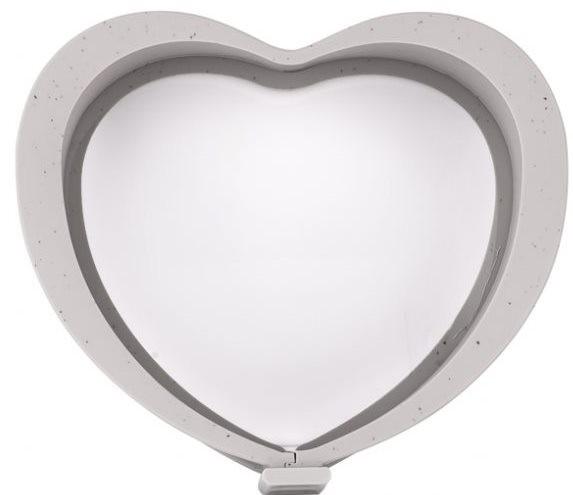 Taç Minori Kilitli Silikon Kalp Kek Kalıbı | Gri | TAC-6538