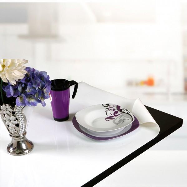 Çınar PVC 1,7mm 80cm Masa Örtüsü - Beyaz