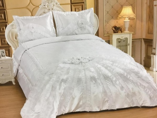 Almina Yatak Örtüsü Takımı | 250x260 Beyaz | Alm-0001