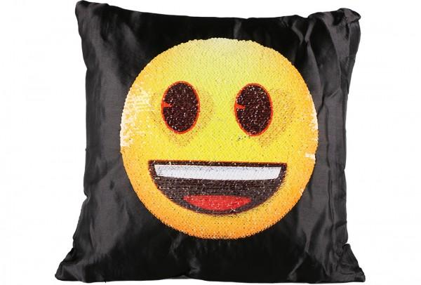 Dekonaz Dekoratif Pullu Yastık 40x40cm   Gülümseyen Kalpli Emoji   MTL-0007