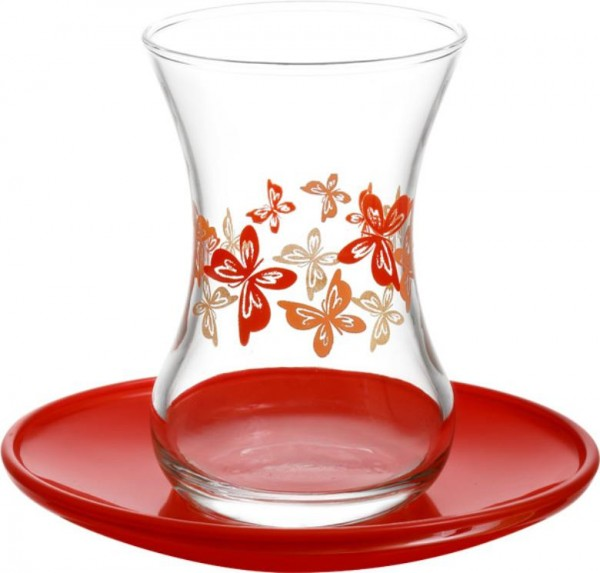 LAV 6'lı Naz Çay Bardağı Takımı 12 Parça   DMT303-ASN274-3
