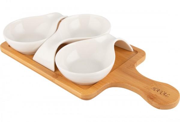 Hayal Kase Seti Kapaklı 4 Parça Kahvaltılı Çerezlik | Bambu Porselen | By-alz-p180253