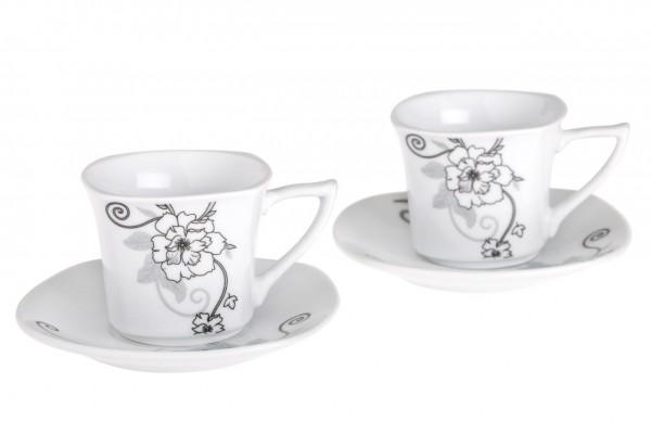 Bavary 6'lı Kahve Fincan Seti Porselen 12 Parça | A13412