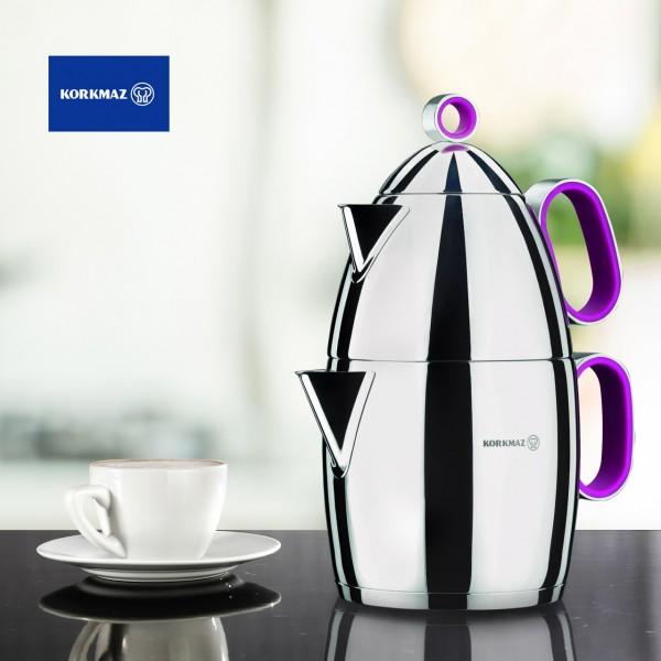 Korkmaz Tomtom Çaydanlık Paslanmaz Çelik 2.7 Litre | A084