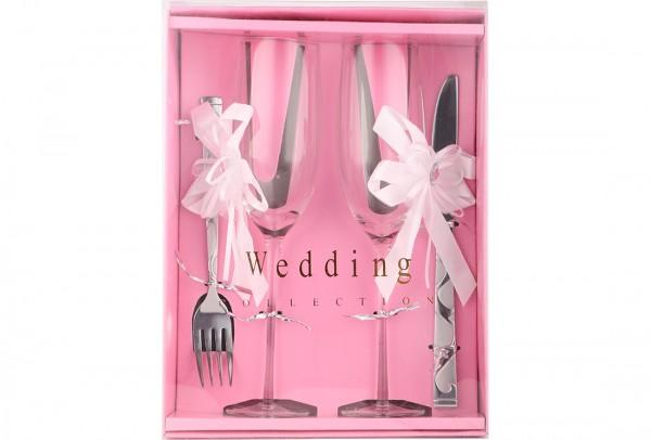 Düğün Çatal Bıçak Kadeh Seti | 4 Parça | Wedding-0001