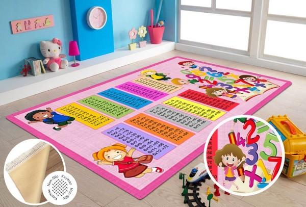 Siela   Latex Yıkanabilen   Çocuk Halısı   Pembe   Kids-Pink