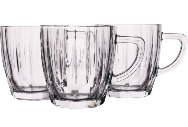 Almina Çay Bardağı | Çay Kupası | Kabartmalı | 6 Adet | Al-dm80