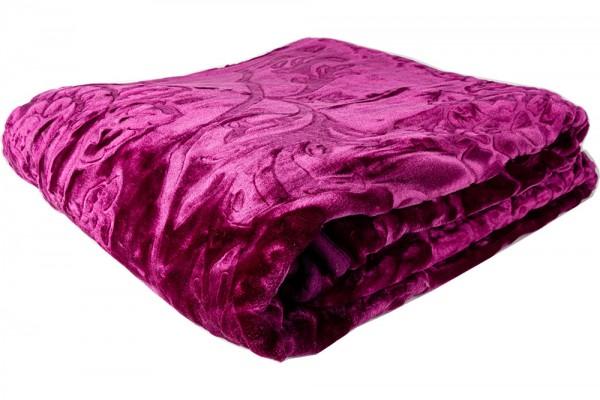 Dekonaz | Yün battaniye | Mor | Polyester | Çift Kişilik | By-blanket-07