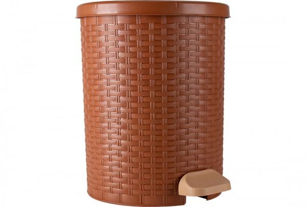 Violet Rattan Modern Çöp Kovası 20 Litre | 724-brown