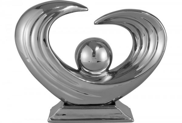 Burcu Modern Dekoratif Vazo - Gümüş
