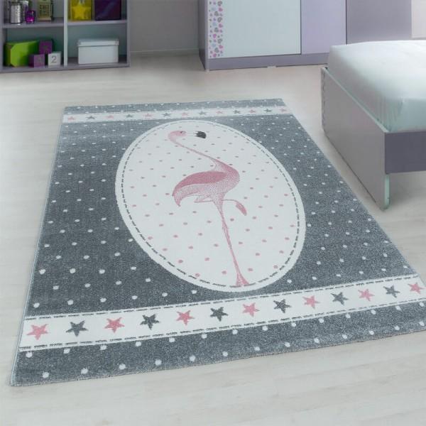 Ayyıldız Kids Flamingo Çocuk Halısı | 100% PP Frise 11mm 2500 gr | Pembe | 630-Pink