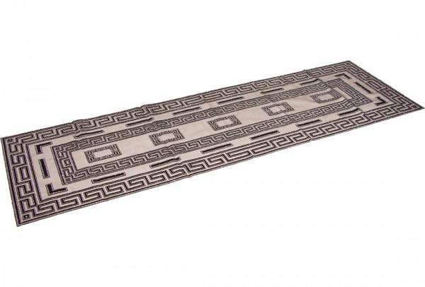 Almina Danteel Home Masa Örtüsü 42x138 cm | Siyah Gümüş | AL-TL-29
