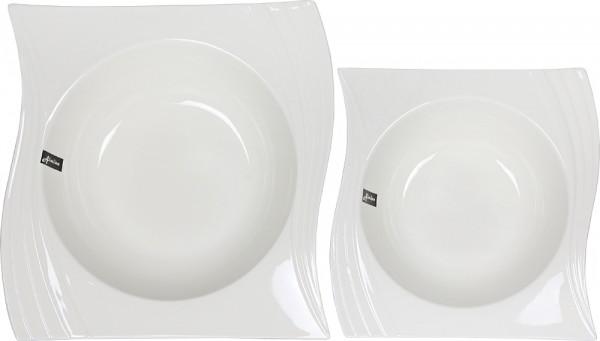 Almina 2'li Servis Kasesi S-Şekil   Beyaz   Al-0375
