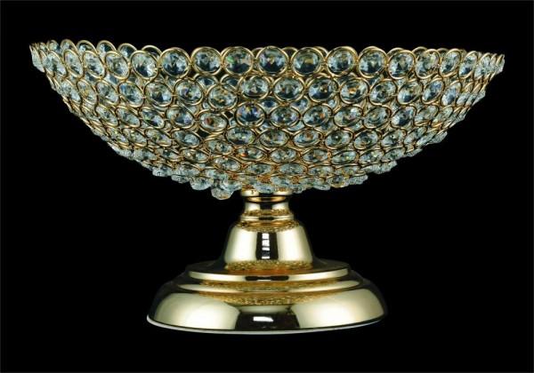 Dematex Kristal Dekoratif El Yapımı Meyve Kasesi | Altın
