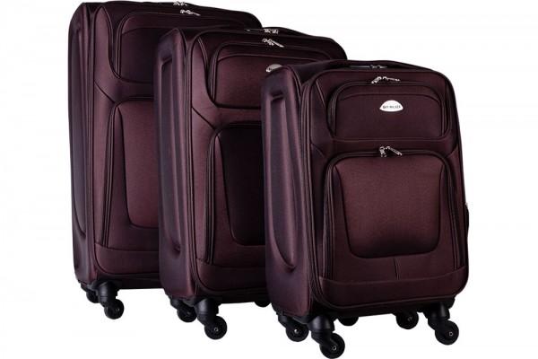 Bavary | 3'lü Bavul Seti | Tekerlekli | Kahverengi | Şifreli | G1960-COFFEE
