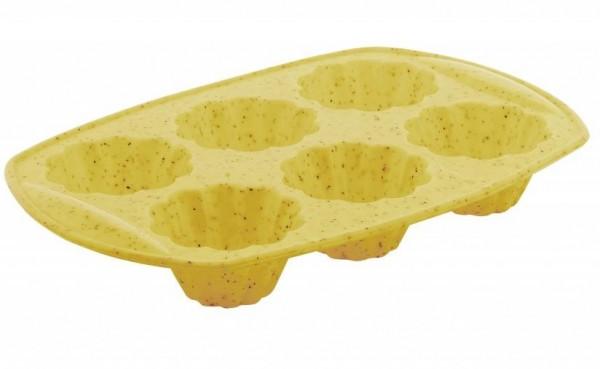 Taç Minori 6 Gözlü Silikon Kek Kalıbı | Sarı | TAC-6527