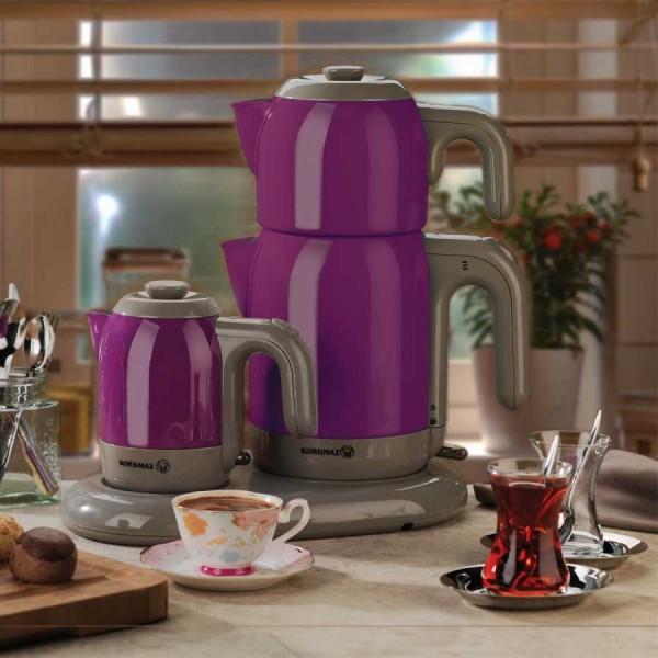 Korkmaz Mia Çay & Kahve Makinesi | Mor & Gri | A353-07