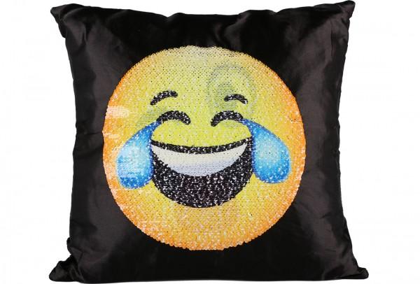 Dekonaz Dekoratif Pullu Yastık 40x40cm | Gülen Emoji | MTL-0013