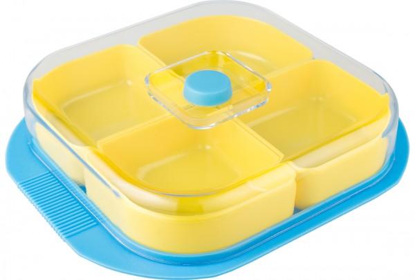 Dekonaz | Plastik Çerezlik | 6 Parça | Mavi-Sarı Renk | GP-0062