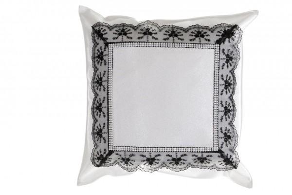 Dematex yastık kılıfı Beyaz Dantel Siyah 40x40